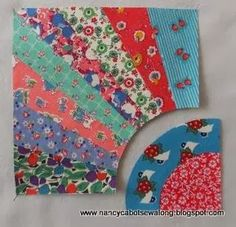 Friendship Fan quilt block pattern and paper piecing tutorial