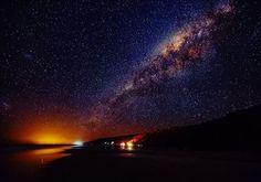Noosa sparkles at night! Incredible evening sky shot captured at Noosa North Shore.