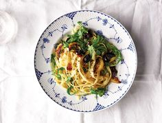 Salty, spicy, peppery and just the right amount bitter, this pasta is crazy good. Yes, the caramelized lemons take a bit of prep, but don't skip them—they make the dish!