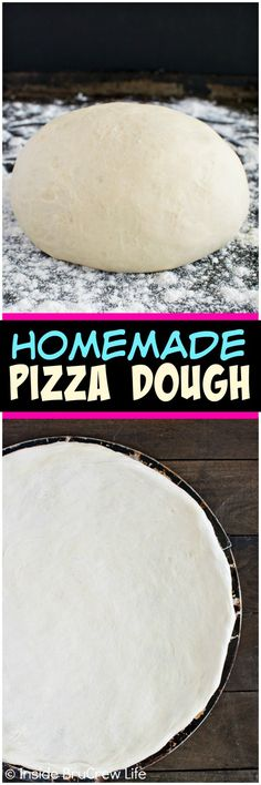 Homemade Pizza Dough - making pizza, breadsticks, and calzones is easy to do at home with this dough recipe.