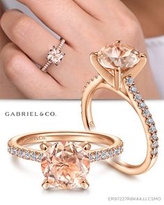 This captivating morganite flower engagement ring makes an amazing gift for the woman in your life whether a wife, friend or mother. It features a rose gold diamonds encrusted band with an intricately designed solid gold flower with morganite center. Unusual Engagement Rings, Leaf Engagement Ring, Morganite Engagement, Shop Engagement Rings, Diamond Promise Rings, Unique Diamond Rings, Peach Sapphire Rings, Gold Knot Ring, Thing 1