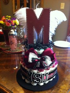 9a27d53de8d School Inspired - Mississippi State Diaper Cake Mississippi State Bulldogs