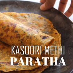Kasuri Methi Paratha Recipe - Healthy Indian Flatbread Recipe - Kasuri Methi Paratha Recipe – Easy, flavorful and healthy Indian flatbread or paratha made with dry fenugreek leaves, wheat flour and spices! An easy recipe for breakfast, lunch or dinner. Methi Recipes, Veg Recipes, Spicy Recipes, Cooking Recipes, Healthy Recipes, Healthy Dinner Recipes Indian, Easy Indian Recipes, Korean Recipes, Indian Desserts