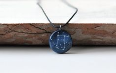 Gemini necklace pendant May birthday gift June by MagicTwirl