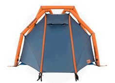 """Hemiplanet is a new company pushing the limits of tent technology with an inflatable geodesic frame. The """"Wedge"""" is super cool!"""