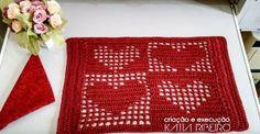 Katia Ribeiro Moda & Decoração Handmade: Jogo Americano em Crochê