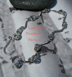 Armband i 925 sterling silver från Lyckliga Piratens Pärla.