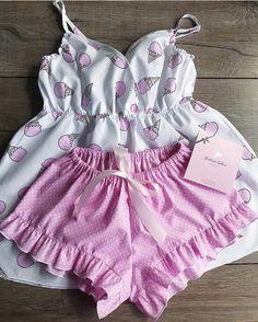 Cute Sleepwear, Lingerie Sleepwear, Lingerie Set, Nightwear, Sexy Pajamas, Cute Pajamas, Pyjamas, Teen Fashion Outfits, Mode Outfits