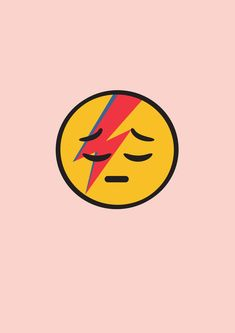 Ziggy Stardust emoji, David Bowie, r.i.p.