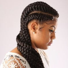 Long Tumbling Braids - Long Tumbling Braids Long, beautiful and girly to the max, these braids are a more feminine take on classic cornrows. The braids are thicker and this style relies upon either very long locks or a high quality weave. This is a great choice if you want a wearable style that can also have some variations – pull the braids into a ponytail or low bun when you want a change.