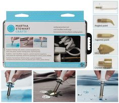 Martha Stewart Multipurpose heat tool /1set Versatile multipurpose tool can transfer patterns, cut stencil film, and adhere embellishments, all by easily changing the tip.