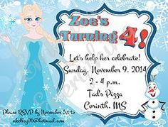 Ice Princess Birthday Party Invitations