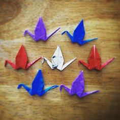 InstaOrbit 2016. Day 51 (20Feb2016) 7 Cranes. Actions over words. Follow the flock! #InstagramOrbit #2016 #followtheflock #origami #1000 #100 #fizzle #show #actionoverwords #birdsofinstagram #simplicity #focus