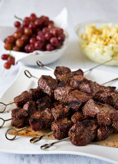 How To Cook Perfect Steak Kabobs - Come to the site to see the other links for month's Progressive Eats.