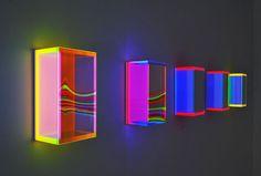 Regine Schumann. Light art installation. lichtkunst.