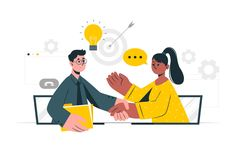 Spot Illustration, Website Illustration, Flat Design Illustration, Business Illustration, Digital Illustration, Productivity In The Workplace, People Png, Transformation Project, Improve Communication