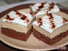 Feiner Kakao - Biskuitboden, Kaffeecreme und Schlagsahne … hmmm