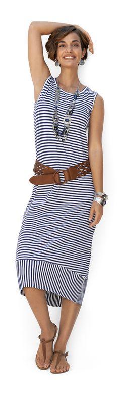Love this Chico's Stripe Lana Midi Dress! #DestinationFabulous @Love Chico's