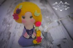 My Little Friend, Princesa Rapunzel, bonecas de feltro, feltro, felt