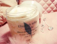 Elizabeth Arden Honey Drop Body Cream.  The scent lasts forever.