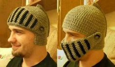 Crochet knight helmet (just the picture)