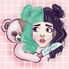 I LOVE THIS SO MUCH! Tbh I would buy this on a shirt (if only I had money) thank you for sharing your Talent with us @aleanatomess . #melaniemartinez #crybaby #crybabyfanart #fanart