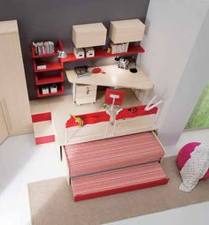 Teen Bedroom, Home Decor Bedroom, Roll Away Beds, Platform Bedroom, Hidden Bed, Cute Room Decor, Awesome Bedrooms, Diy Table, Small Apartments