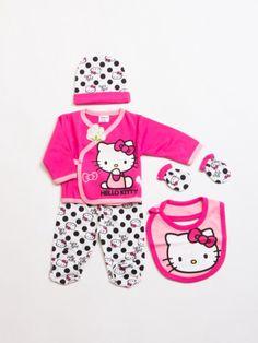 Hello Kitty HK4814 Lisanslı bebek 5li hastane çıkış seti