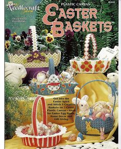 Easter Baskets Plastic Canvas Pattern The by grammysyarngarden, $5.00