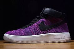 "Nike Air Force 1 Flyknit ""Purple"" (Preview) - EU Kicks: Sneaker Magazine"