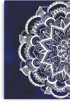 White Feather Mandala on Navy by Tangerine-Tane