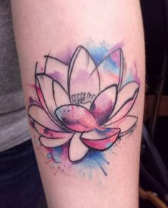 Watercolor Lotus Tattoo by Brandon Smith                                                                                                                                                                                 More