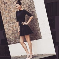 So excited to see the fabulous and talented model, presenter and author Louise Cole in our flared skirt dress, Jo!   http://www.sdress.com/product/jo-dress/