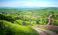 http://tednasmith.mymiddleearth.com/files/2012/08/TN-The_Shire_A_View_of_Hobbiton_From_The_Hill.jpg