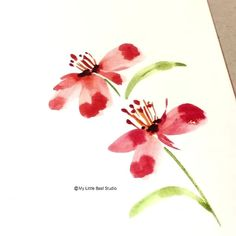 Watercolor Flowers Discover Real time process video of watercolor flowers Watercolor Paintings For Beginners, Watercolor Video, Watercolor Projects, Watercolor Cards, Floral Watercolor, Painting Videos, Watercolour Step By Step, Watercolor Birthday Cards, Watercolor Art Paintings