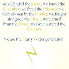 Harry Potter Generation!