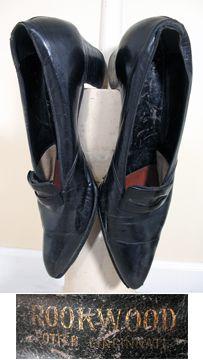 c507bb5cf3 1910s Vintage Edwardian Black Leather Pumps with Buckles SZ 8 – 8.5 Retro  Shoes, Vintage