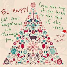 Be happy! #dadijanki #festivefriday #christmasday # #⛄  #merrychristmas #happychristmas #noel #joy #peace #contentment #love #light #seasonofgiving #goodwill #christmascheer #flashbackfriday #holidays #feelingfestive #spirituality #family #love