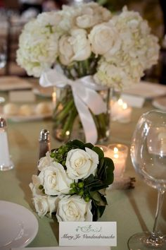 white centerpieces