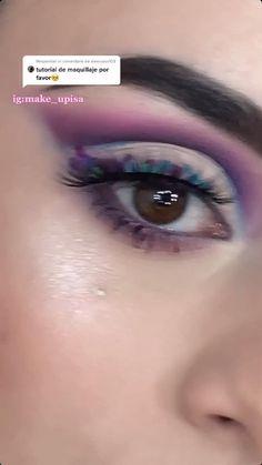 Eyebrow Makeup Tips, Makeup Tutorial Eyeliner, Eye Makeup Brushes, Eye Makeup Art, Show Makeup, Bold Makeup Looks, Makeup Face Charts, Eye Makeup Designs, Makeup Is Life