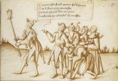 Recueil de dessins ou cartons, avec devises, destinés à servir de modèles pour tapisseries ou pour peintures sur verre. Date d'édition : 1501-1600 Type : manuscrit Langue : Français