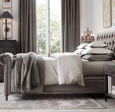 Best restoration hardware bedroom curtains living room designs and Dream Bedroom, Home Bedroom, Bedroom Furniture, Master Bedroom, Bedroom Decor, Bedroom Ideas, Bedroom Inspiration, Antique Furniture, Champagne Bedroom