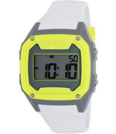 Freestyle Men's Killer Shark 101995 White Silicone Quartz Watch with Digital Dial