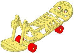 dufarge by Daan Botlek  #anatomy #skeleton #skateboard