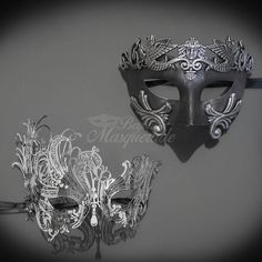 Black Pink Couples Masquerade Mask, His Hers Masquerade Mask, Filigree... ❤ liked on Polyvore featuring jewelry, masquerade jewelry, pink jewelry, filigree jewelry and metal jewelry