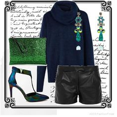 Blue+and+green+shine+|+Women's+Outfit+|+ASOS+Fashion+Finder