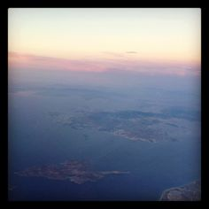 Greek islands from the plane