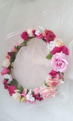 【ヘッドドレス】花冠pink_mix31