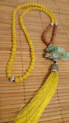 Colar- Jade, P. do Sol e Amazonita Bruta