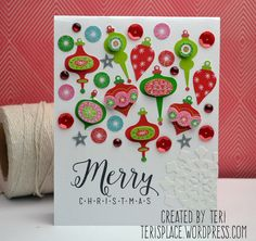 Handmade Christmas card by Teri//Terisplace.wordpress.com